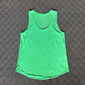 JCREW Green Linen Tank Medium